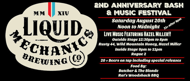 Liquid Mechanics Brewing Co 2nd Anniversary