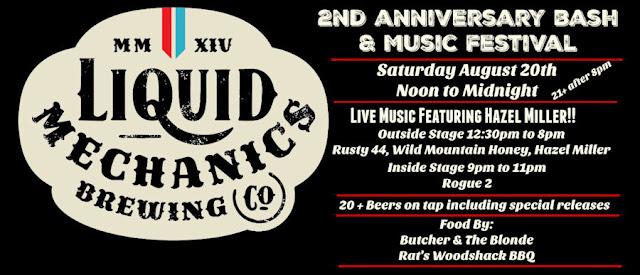 Liquid Mechanics Brewing Co 2nd Anniversary
