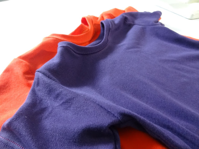 Orange and purple tshirts