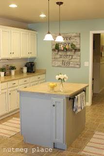 Wyethe Blue paint color in kitchen.