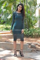 Simran Choudhary Cute beauty with dimples in transparent Green Tight Short Dress ~  Exclusive 007.jpg