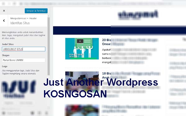 menghapus just another wordpress