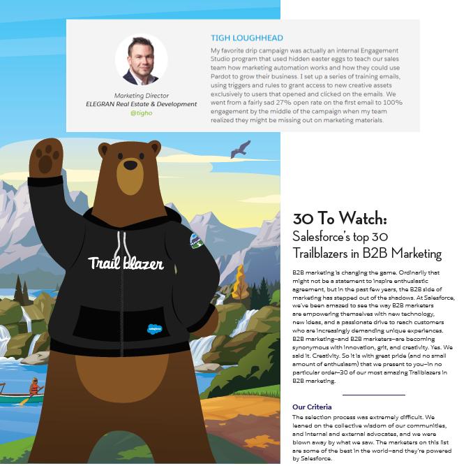 Tigh Loughhead recognized as one of Salesforces top 30 Trailblazers in Pardot B2B Marketing