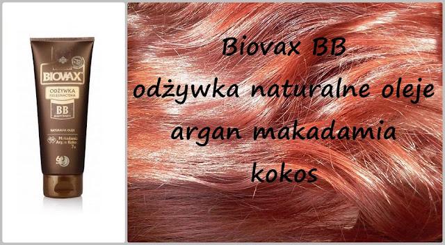 Biovax BB beauty benefit - odżywka naturalne oleje: argan, makadamia i kokos