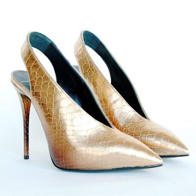 giuseppe zanotti gold metallic high heels