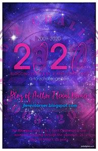@JLenniDorner #AtoZChallenge poster 2020