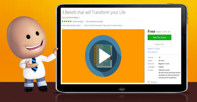 [100% Off] 3 Beliefs that will Transform your Life|Worth 200$