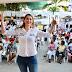 Ruby Chagui, una cordobesa del Centro Democratico que quiere ser senadora. Visitò a Cartagena