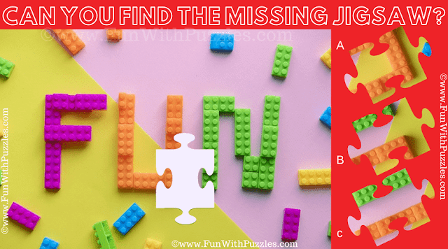 It is the Fun Jigsaw Picture Riddle in which your challenge is to search the missing Jigsaw Piece from the Puzzle Image