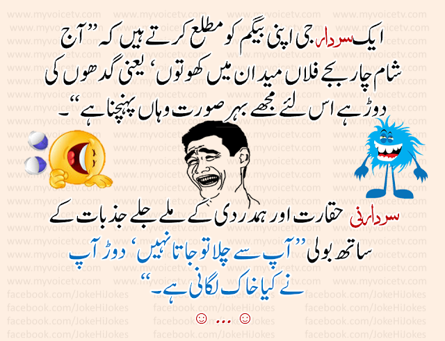 #JokeHiJokes - Aik Sardar apni Begum ko mutlaa kartay huay ..☺…like and share