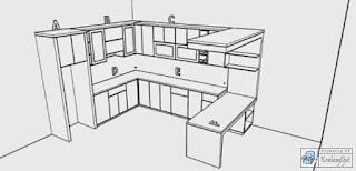 Kontraktor Interior -  Kitchen L-shape Dan Dinning Table