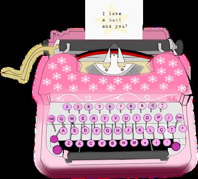 Máquina de escrever criação Stella