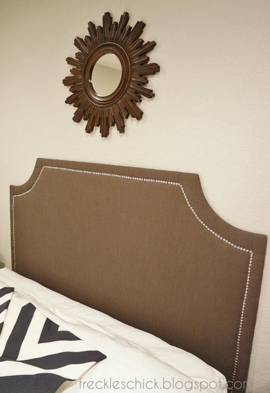 freckles chick: DIY upholstered headboard with nailhead ...
