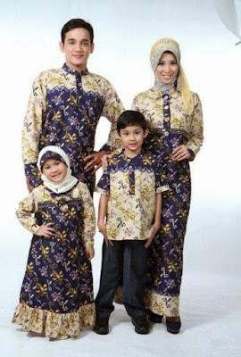 model baju batik muslim anakperempuan
