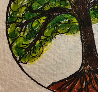 Linzé Brandon, Live in Balance, tree, drawing, #atozchallenge