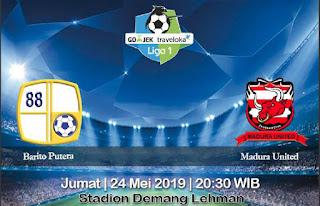 Prediksi Barito Putera Vs Madura United 24 Mei 2019