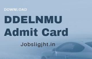 DDELNMU Admit Card