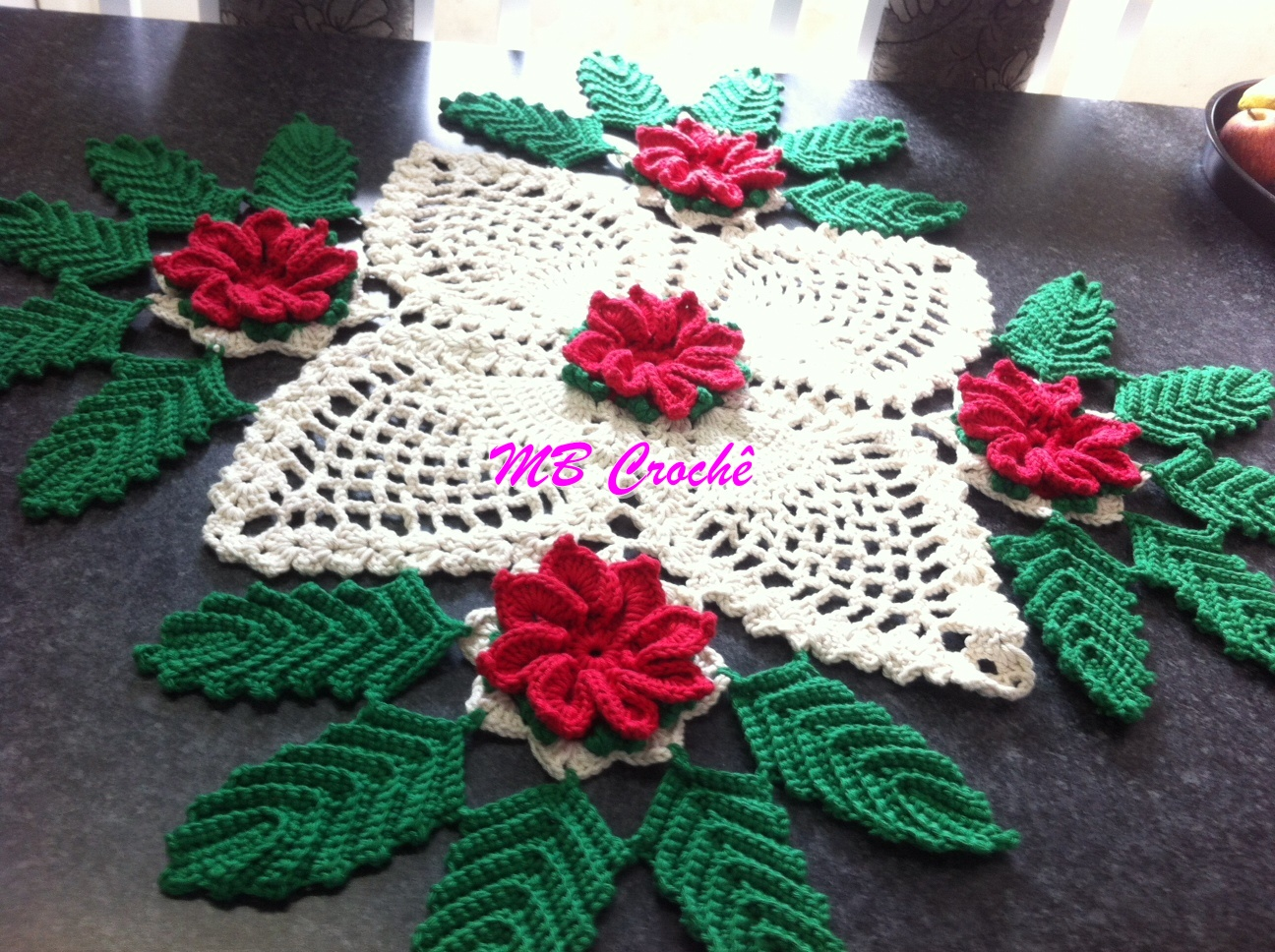 Centro de mesa para navidad paso a paso con v deo tutorial y patrones patrones crochet - Manualidades de navidad paso a paso ...