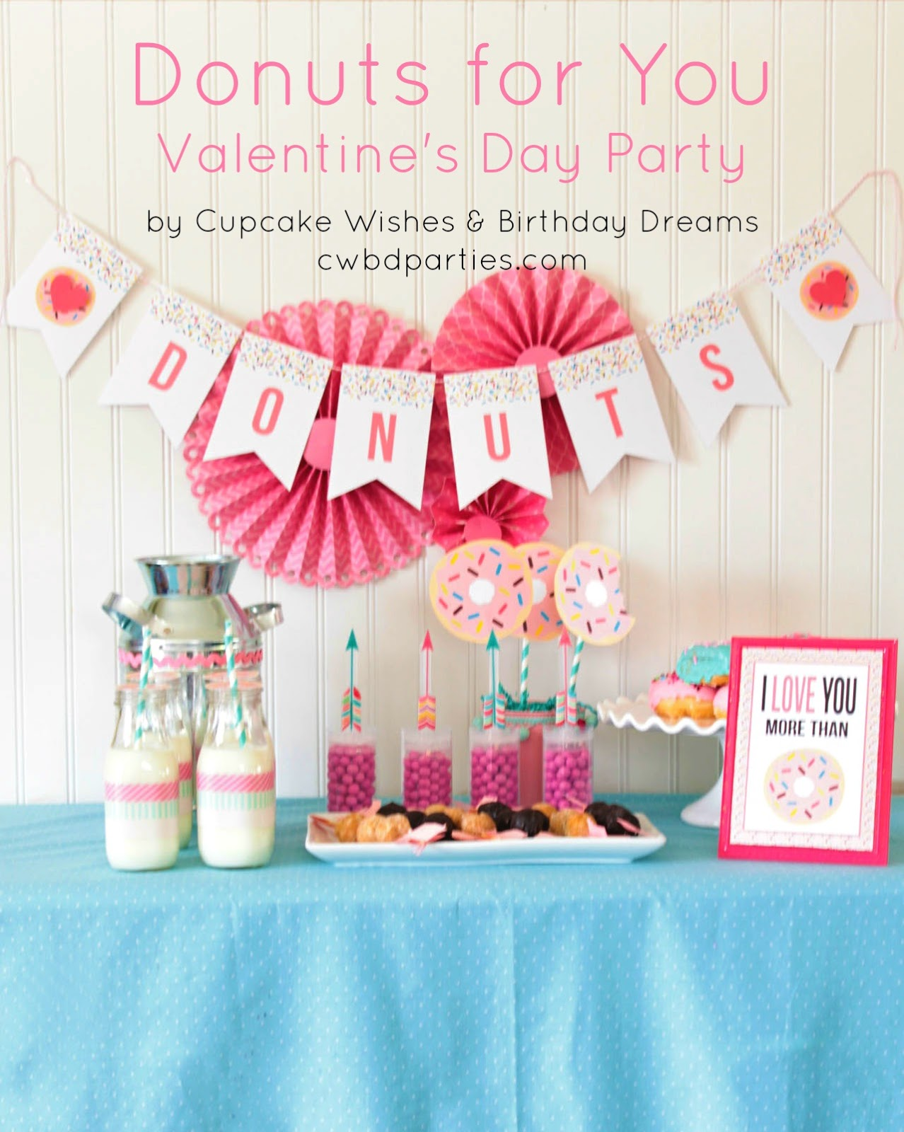 Cupcake Wishes Birthday Dreams Donuts For You Valentine S Day Party