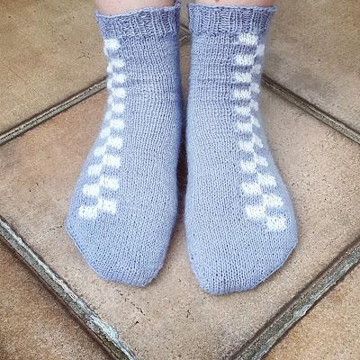 Battenberg socks - free knitting pattern by Knitting and so on