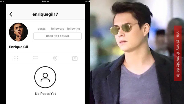 Enrique Gil's Instagram account hacked