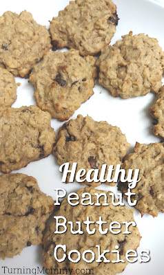 Turning Mommy Healthy Peanut Butter Cookies