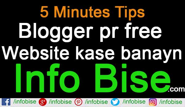 Blogger pr free Website kase banayn (Complete Guide)
