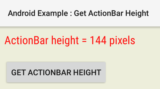 android - How to get ActionBar height programmatically