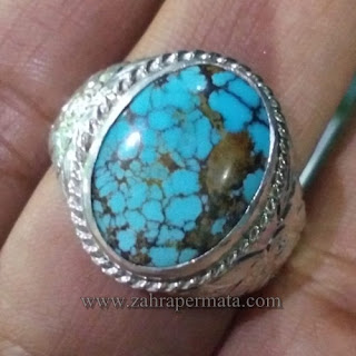 Cincin Batu Permata Pirus Persia - ZP 1151