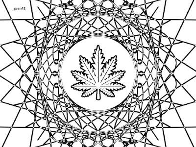 Marijuana Leaf Coloring Book Art by Greg Vanderlaan gvan42