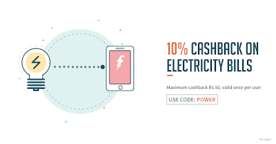 Freecharge Electricity Bill Offer(10% Discount on Electricity Bill)