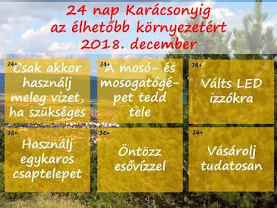 adventi, kalendárium, naptár, klímaváltozás, környezetvédelem, tudatosság, hatékonyság,