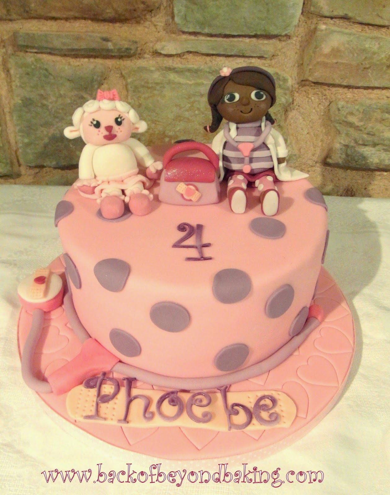 Doc McStuffins and Lamby birthday cake