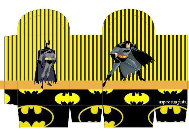 Caja  para Imprimir Gratis de Fiesta de Batman.