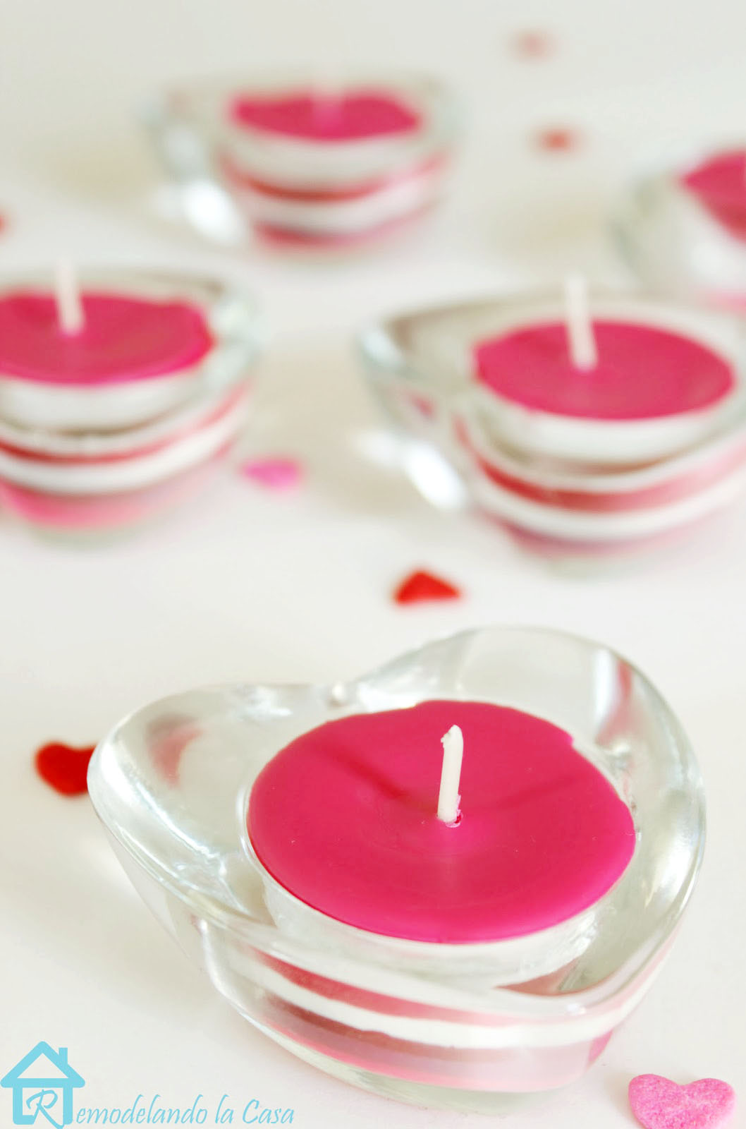 diy crayon candles for Valentines