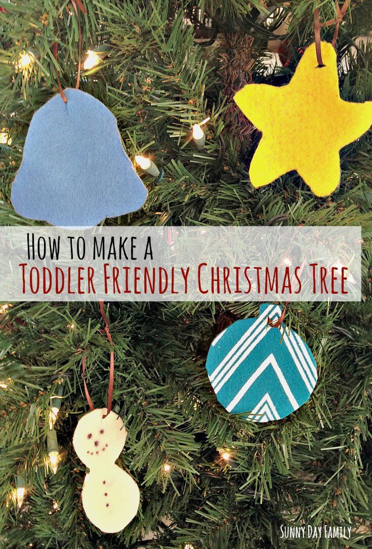 How I restored peace and harmony by toddler proofing my Christmas tree - an easy DIY that will make your tree indestructible!
