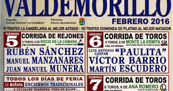 スペイン, 言語, 文学, 映画, 闘牛,+雑学Toros en...Valdemorillo 7 de Febrero 2016          Corrida de Toros17:00 horasTV en directo      Extremadura Tierra de Toros