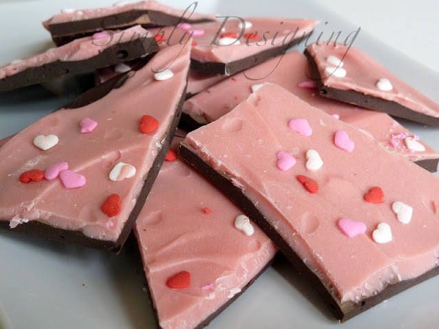 Chocolate Cherry Bark #valentinesday