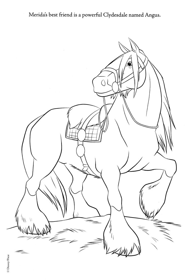Angus Merida Horse Brave Coloring Pages