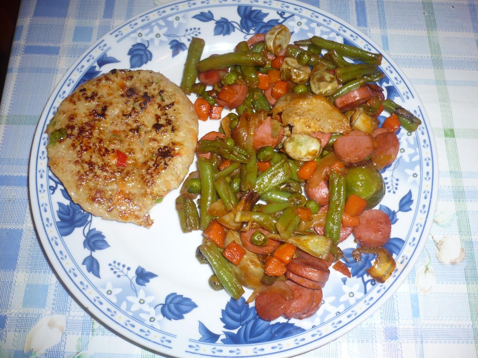 En la cocina con ana hamburguesa y menestra de verduras - Como preparar menestra de verduras ...