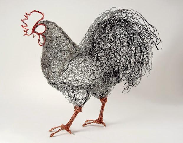 Celia Smith Wire Bird Sculpture