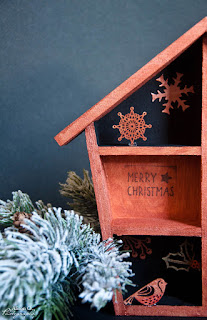 Projet DIY Maisonnette de Noël cuivrée