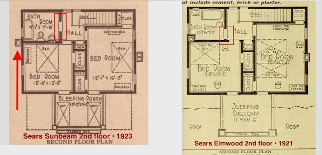 sears sunbeam floor plan vs sears elmwood