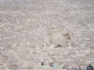 entrada a la galeria piramide de giza