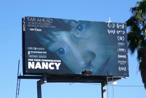 Nancy film FYC billboard