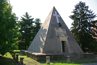 The Novara Pyramid was built to hold the ashes of soldiers who were killed in the 1849 Battle of Novara