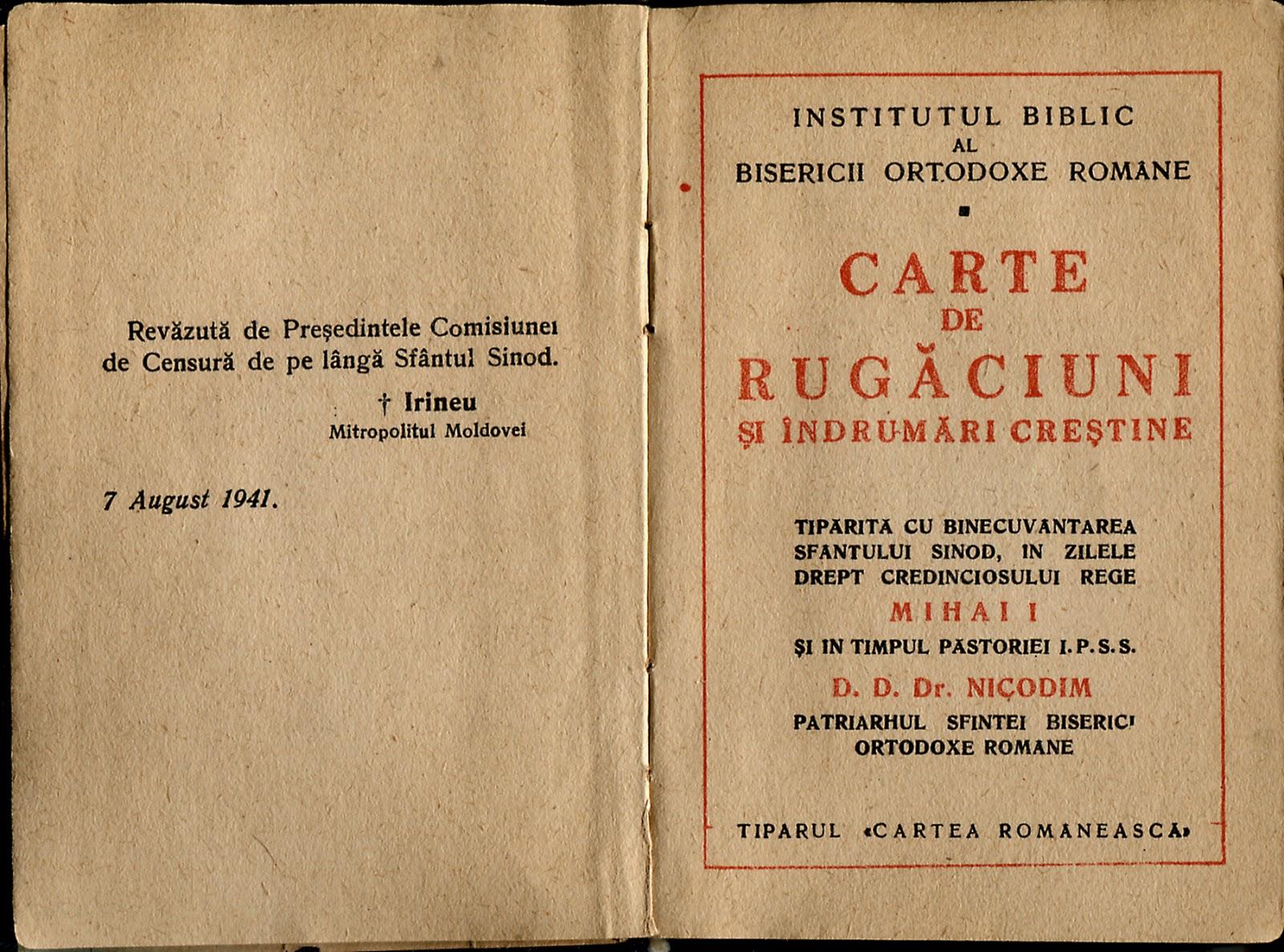 Risultati immagini per Carte de Rugaciuni,