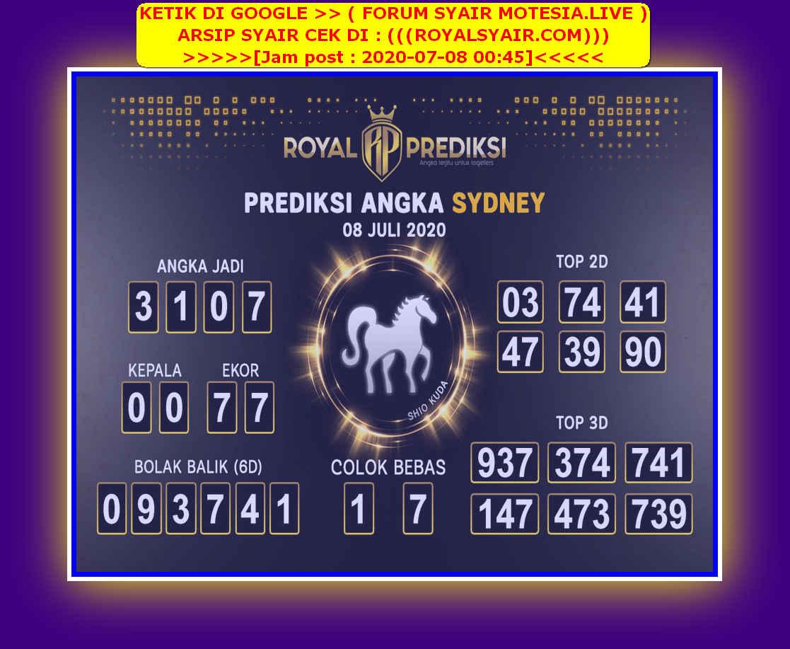Kode syair Sydney Rabu 8 Juli 2020 213