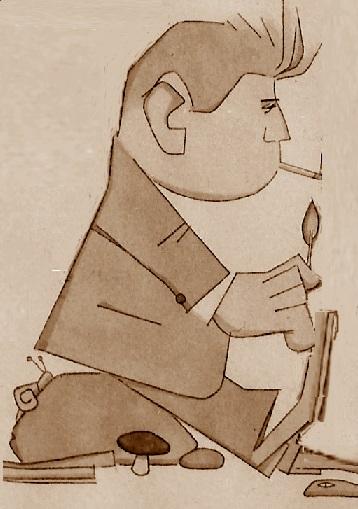 Caricatura de Lucien Francino en 1954