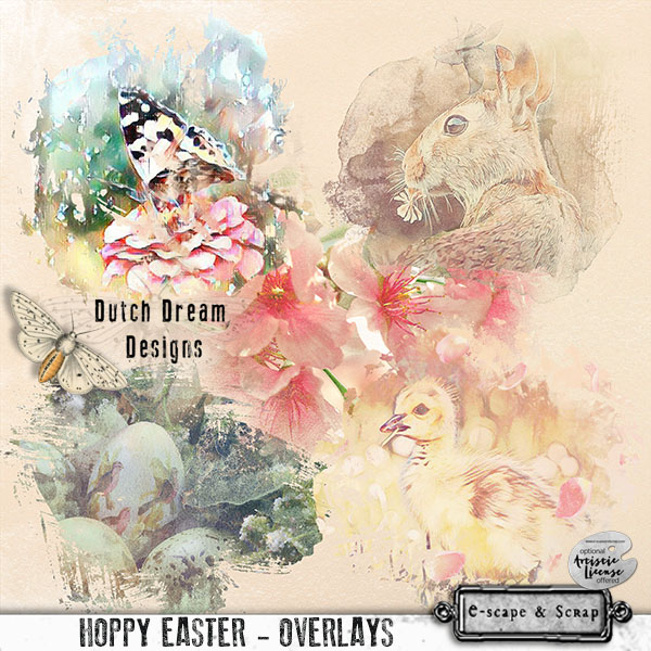 DUTCH DREAM DESIGNS HOPPY EASTER OVERLAYS
